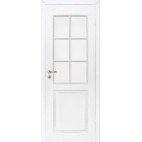 """Финская дверь """"Каспиан"""" белая Под стекло крашеная с притвором Олови"""