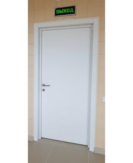 Дверь пластиковая КАПЕЛЬ белая гладкая
