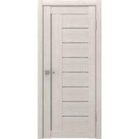 Дверь ЛУ-17 (Капучино) Стекло белое