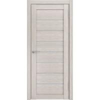 Дверь ЛУ-7 (Капучино) Стекло белое