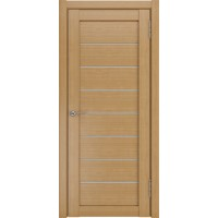 Дверь ЛУ-7 (Орех) Стекло белое