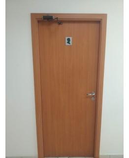 Дверь Olovi миланский орех без притвора гладкая