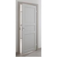 """Финская дверь """"Каспиан"""" белая глухая крашеная с притвором Олови"""