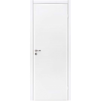 Дверь гладкая БЕЛАЯ Крашенная Олови с притвором