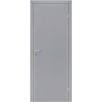 Дверь гладкая Серая Крашенная Олови с притвором RAL 7040