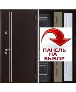 Дверь Норд-2 Муар коричневый входная с терморазрывом