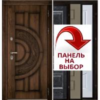 Дверь АТЛАНТ golden oak + черная патина