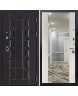 Дверь КОНСУЛ NEW Z венге, панель с Зеркаломдуб светлый пвх