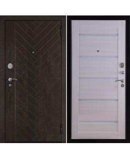 Дверь ВЕКТОР Лофт Х7, горький шоколад, панель лофт х7 кремовая лиственница