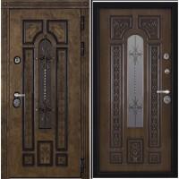 Дверь АРКТИКА WF входная со стеклопакетом корабельный шпон