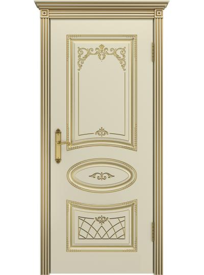Дверь Ария Слоновая кость В3 ПГ Золотая патина