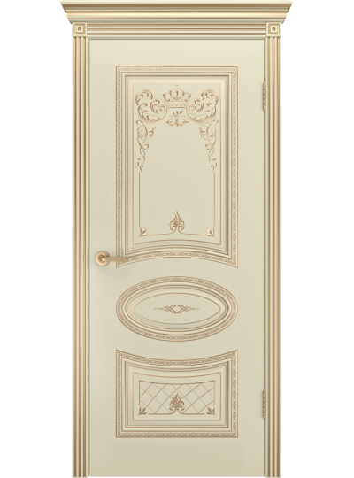 Дверь Ария Корона Слоновая кость В3 ПГ патина золото