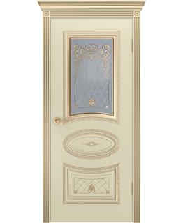 Дверь Ария Корона Слоновая кость В3 ПО патина золото