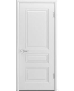 Дверь Трио Грейс Белая эмаль В1 ПГ