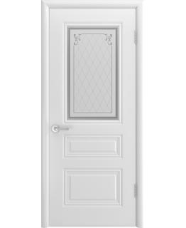 Дверь Трио Грейс Белая эмаль В1 ПО