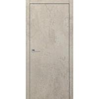 Дверь VS Line Бетон бежевый глухая с алюминиевой кромкой