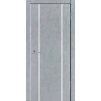 Дверь VS-3 Line Бетон серый со стеклом с алюминиевой кромкой