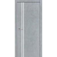 Дверь VS-6 Line Бетон серый со стеклом с алюминиевой кромкой