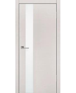 Дверь VS-1 Line беленый дуб горизонт со стеклом с алюминиевой кромкой