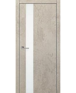 Дверь VS-1 Line Бетон бежевый со стеклом с алюминиевой кромкой