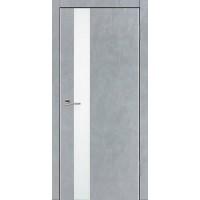 Дверь VS-1 Line Бетон серый со стеклом с алюминиевой кромкой