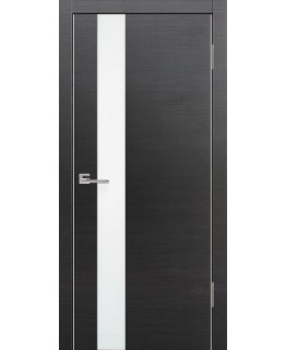 Дверь VS-1 Line Венге горизонт со стеклом с алюминиевой кромкой