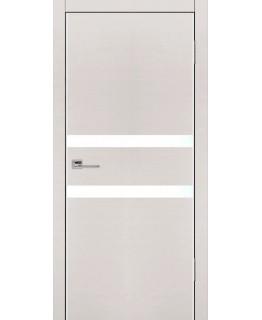 Дверь VS-2 Line беленый дуб горизонт со стеклом с алюминиевой кромкой