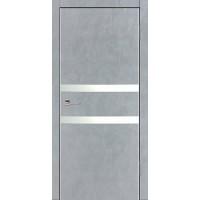Дверь VS-2 Line Бетон серый со стеклом с алюминиевой кромкой