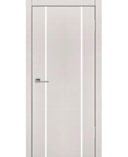 Дверь VS-3 Line беленый дуб горизонт со стеклом с алюминиевой кромкой