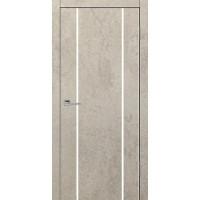 Дверь VS-3 Line Бетон бежевый со стеклом с алюминиевой кромкой