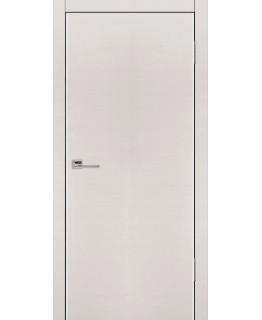 Дверь VS Line Беленый дуб горизонт глухая с алюминиевой кромкой