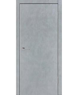 Дверь VS Line Бетон серый глухая с алюминиевой кромкой
