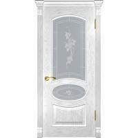 Дверь LUXOR Грация (ДО дуб белая эмаль)