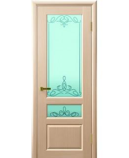 Дверь LUXOR ВАЛЕНТИЯ 2 (беленый дуб, стекло)