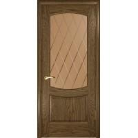Дверь Лаура 2 (Светлый мореный дуб, стекло)