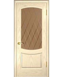 Дверь Лаура 2 (Слоновая кость , стекло)