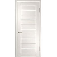 Дверь ЛУ-22 (Беленый дуб, стекло лакобель белое)
