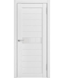 Дверь LUXOR LH-1 белый снег со стеклом