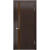 Дверь LUXOR АРТ-3 (лакобель) (Мореный дуб)