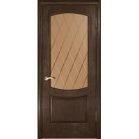 Дверь Лаура 2 (Мореный дуб, стекло)