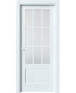 Дверь LUXOR Z-6 Дуб сатин со стеклом