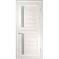Дверь LUXOR ЛУ-27 Беленый дуб Стекло матовое