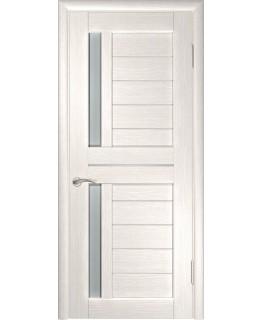 Дверь ЛУ-27 (Беленый дуб) Стекло матовое