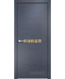 Дверь Оникс Акцент дуб графит, глухая