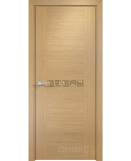 Дверь Оникс Акцент дуб светлый, глухая