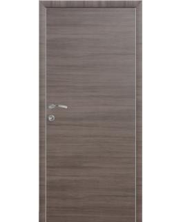 Дверь КАПЕЛЬ ЭКО Неаполь Дуб серый с алюминиевым торцом