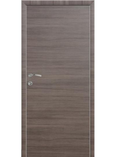 Дверной блок КАПЕЛЬ ЭКО Неаполь Дуб серый пластиковый с коробкой с алюминиевым торцом