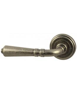 Дверная ручка V18AC состаренное серебро Круглая розетка