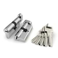 Цилиндровый механизм ТS-60 ключ/вертушка (Личинка) Хром CP
