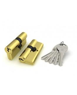 Цилиндровый механизм ТS-60 ключ/ключ (Личинка) Золото PB